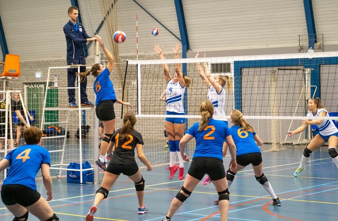 De volleybalsters van Forza Schouwen-Duiveland speelden - bijna traditiegetrouw - een enerverende wedstrijd tegen DVO en won met 3-1.