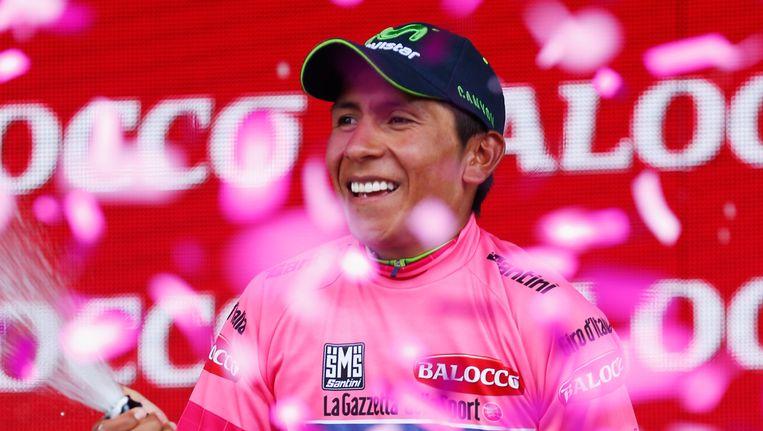 Nairo Quintana nam in de klimtijdrit het laatste greintje hoop weg bij zijn concurrenten. De kopman van Team Movistar moet nu enkel nog de Monte Zoncolan overleven.