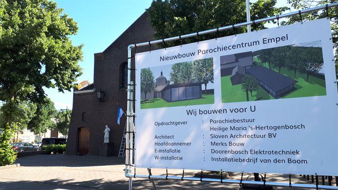 Impressie van het nieuwe parochiecentrum