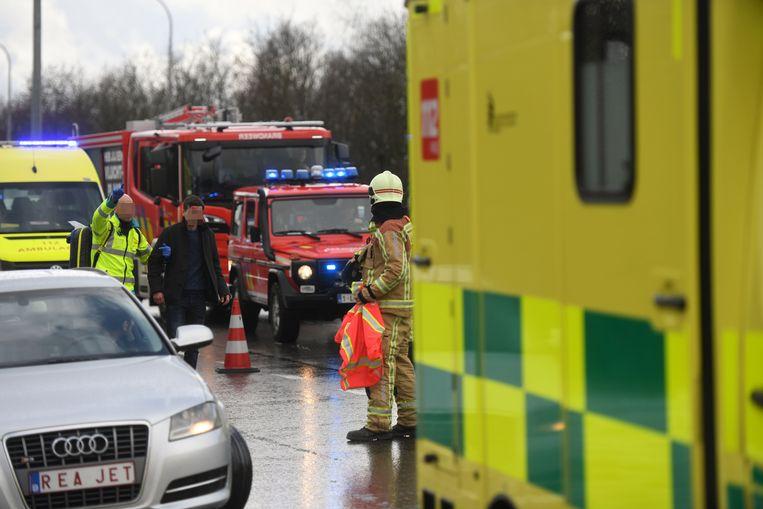 Zwaar ongeval met acht wagens in Winksele.