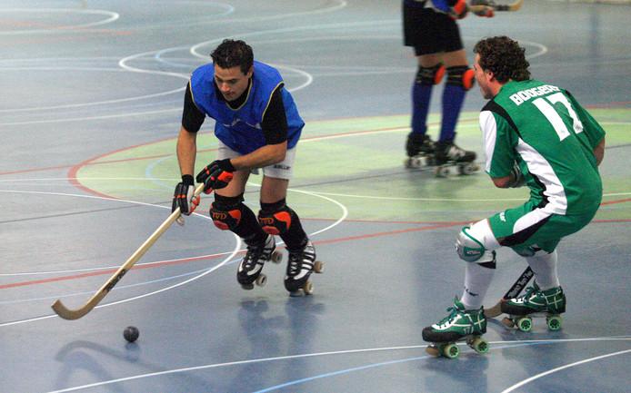 Archieffoto: rollerhockeyclub VRC tijdens een training in De Dennenberg.