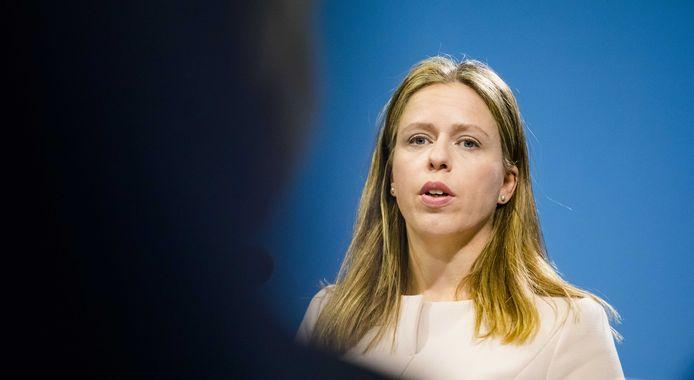 Vicepremier Carola Schouten geeft een persconferentie na afloop van de wekelijkse ministerraad.