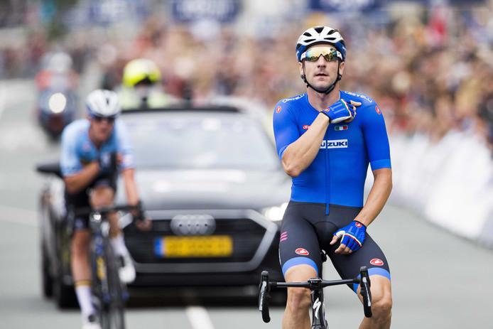 Elia Viviani, champion d'Europe à Alkmaar, en 2019.