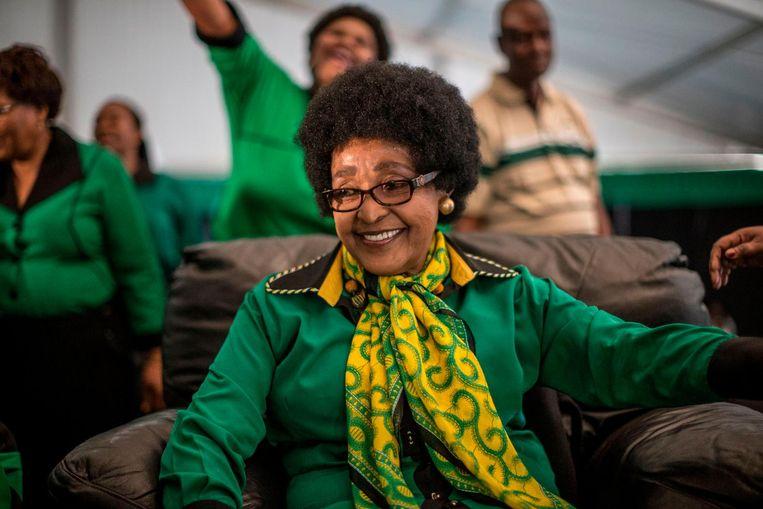 Winnie Mandela tijdens het Africa National Congress, 26 september 2016 Beeld ANP