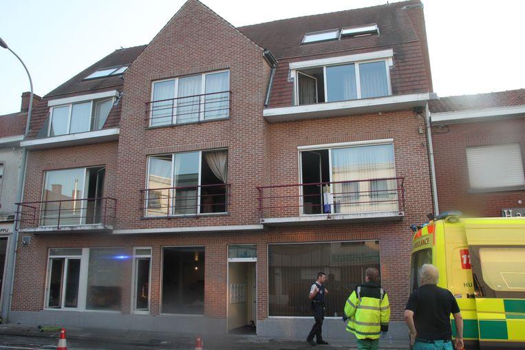 De schade in het appartement bleef beperkt.
