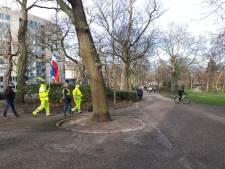 Gele hesjes demonstreren in centrum van Nijmegen