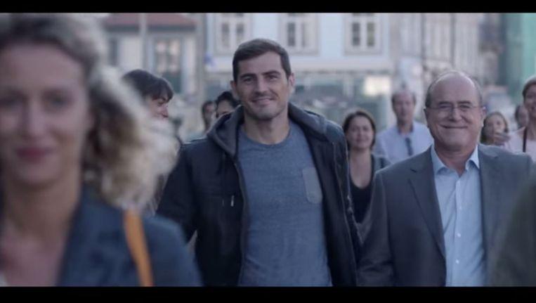 Casillas in het spotje van een Madrileens advocatenkantoor. Beeld null