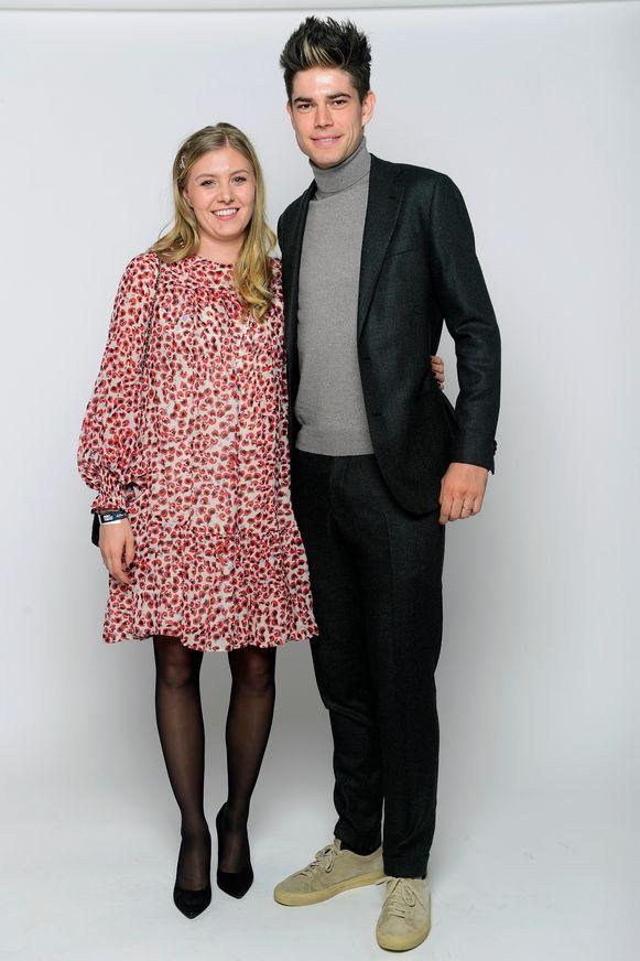 Wout van Aert en partner Sarah De Bie