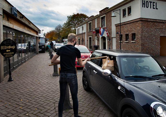 De drive-in van restaurant Beer and Beefs in Asten-Heusden.