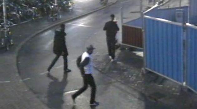 De drie verdachten op camerabeelden