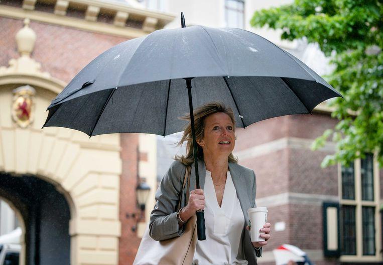 Minister Kajsa Ollongren (Binnenlandse Zaken) op het Binnenhof in Den Haag. Beeld ANP
