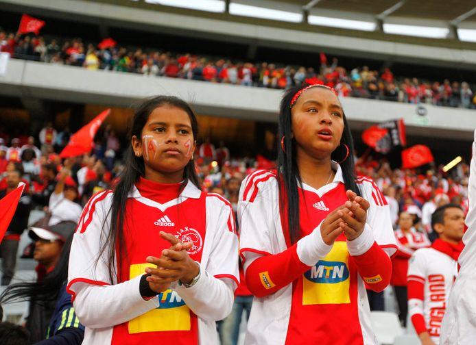 Fans van Ajax Cape Town op archiefbeeld.