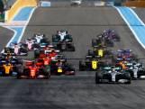 Verstappen strijdt met McLarens bij start