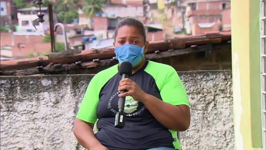 Mirtes, de moeder van Miguel, tijdens een interview met de Braziliaanse zender TV Globo.