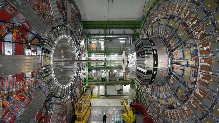 Het Cern in Genève, waar onderzoek wordt gedaan naar het higgsdeeltje Beeld afp