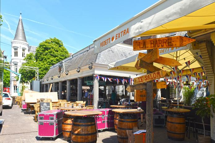 De vishal en de omringende terrassen staan momenteel in het teken van Tour du Jour. Op 3 augustus start in de vishal 'De Biertuin Breda'.