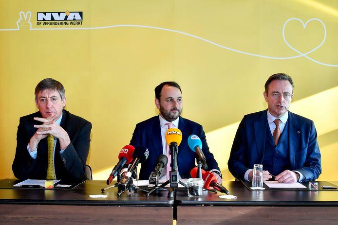 Jan Jambon, Michael Freilich et Bart De Wever