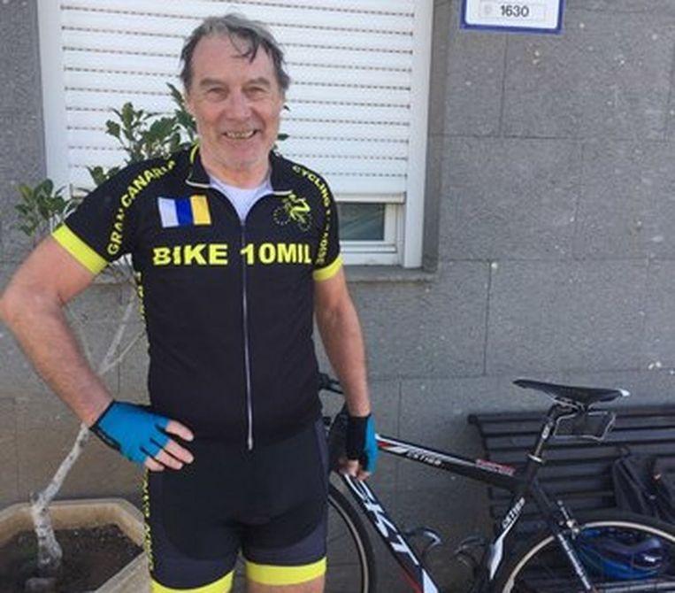Guy Caubergs terug van een fietstochtje