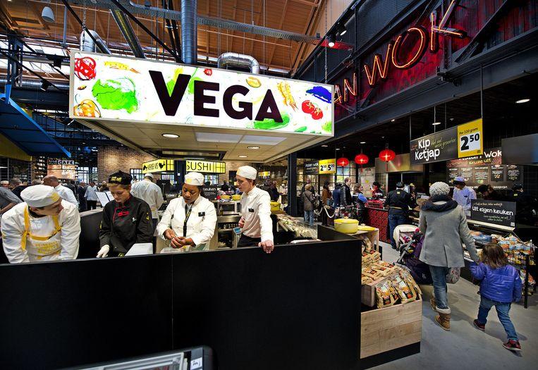 De versafdeling van Jumbo Foodmarket in Amsterdam-Noord. Beeld Klaas Jan van der Weij