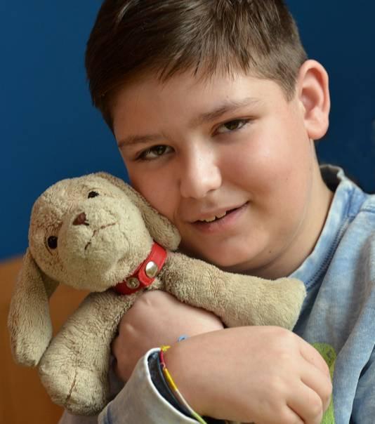 Jorrit op 14-jarige leeftijd met Happy.