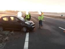 Twee auto's bij Goes van de weg geraakt: politie waarschuwt voor gladheid
