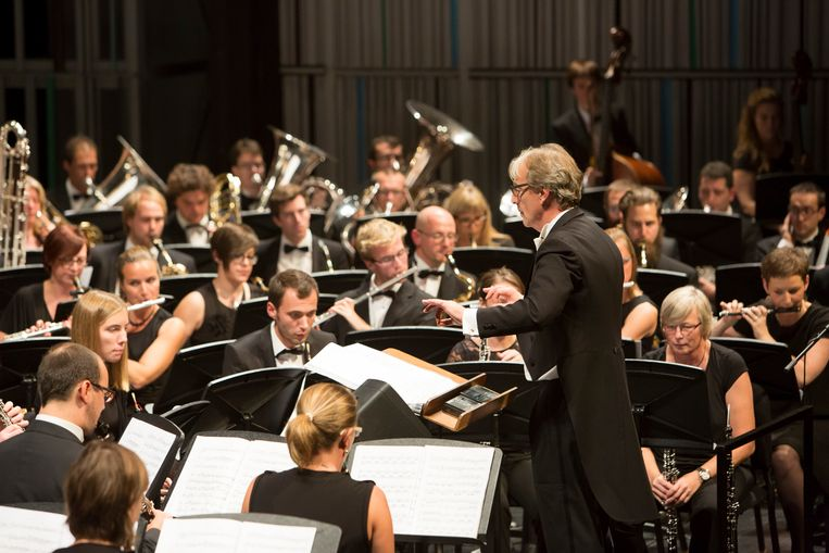 Het Bevers Harmonieorkest aan het werk.