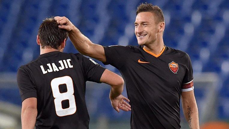 Francesco Totti (R). Beeld epa