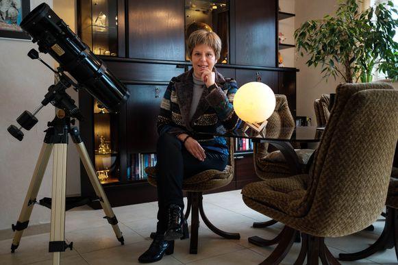 Nancy Vermeulen uit Hove geeft trainingslessen om voor te bereiden op ruimtevaart.