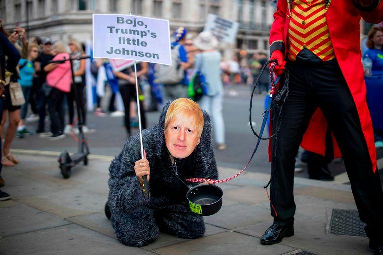Een 'No to Boris: Yes to Europe'-demonstratie in Londen afgelopen weekeinde. Beeld AFP