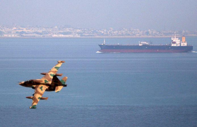 Archiefbeeld van een Iraans militair toestel nabij de Golf van Oman.