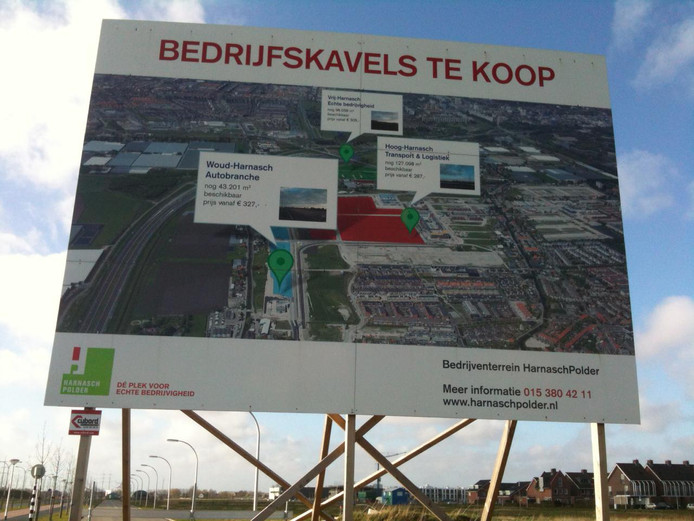 Bedrijventerrein Harnaschpolder in Delft.
