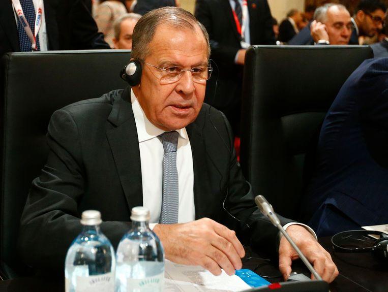 Russisch minister van Buitenlandse Zaken Sergei Lavrov