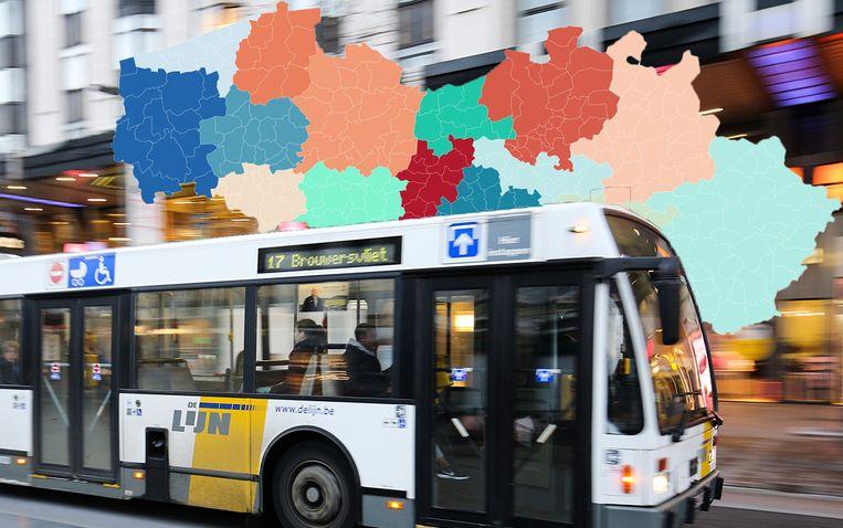 De Lijn wordt binnenkort onderverdeeld in vijftien vervoerregio's.