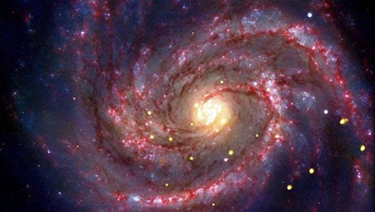 Een supernova die door de NASA is ontdekt. Beeld afp