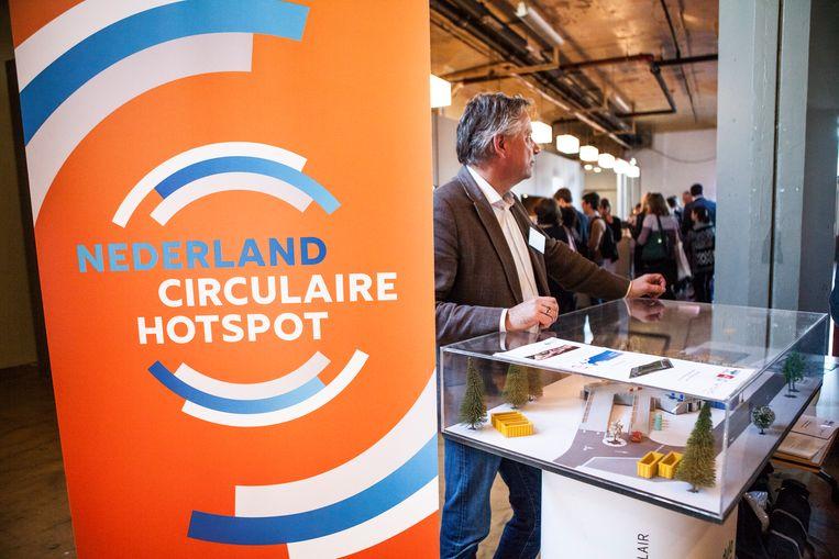 Een bijeenkomst in 2016 over circulaire economie in de Van Nelle fabriek in Rotterdam. Beeld ANP