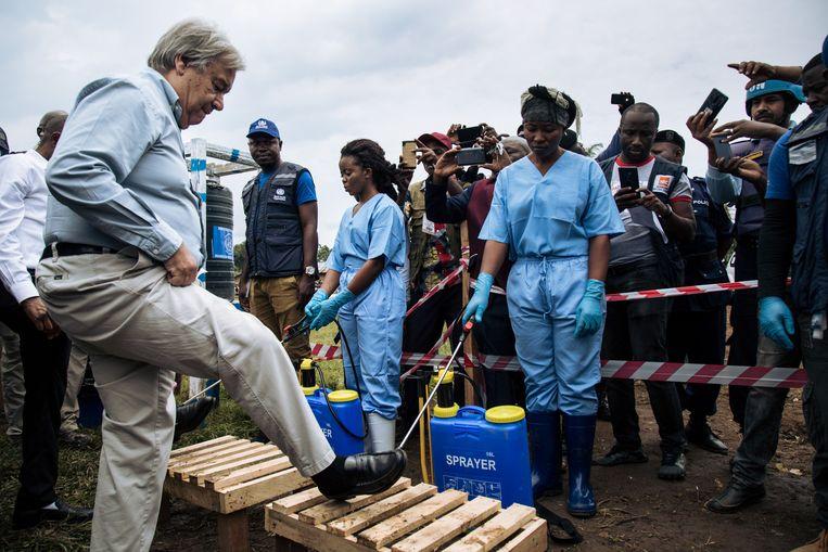 VN-secretaris-generaal Antonio Guterres heeft een bezoek gebracht aan het oosten van de Democratische Republiek Congo.