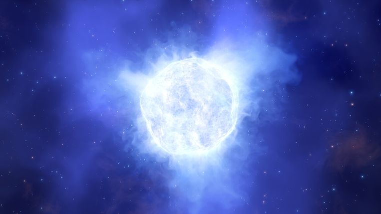 Computertekening van de 'verdwenen' ster Beeld ESO/L. Calçada