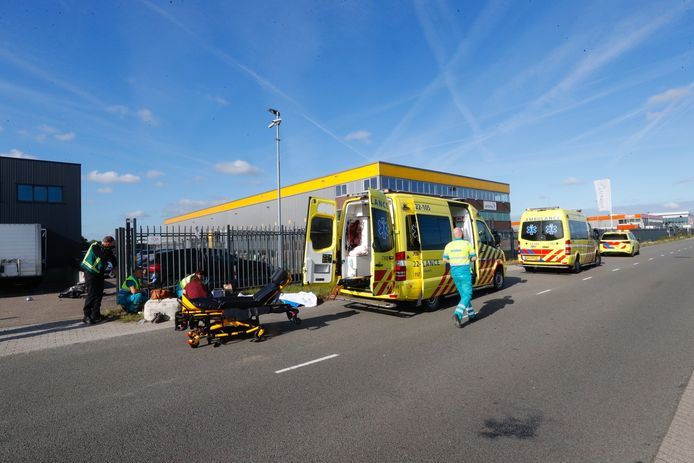 Ongeval aan de Achtseweg Noord in Eindhoven.