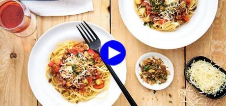 """Rendez votre spaghetti bolo sensationnel avec un truc tout simple (et plein de légumes!) """""""