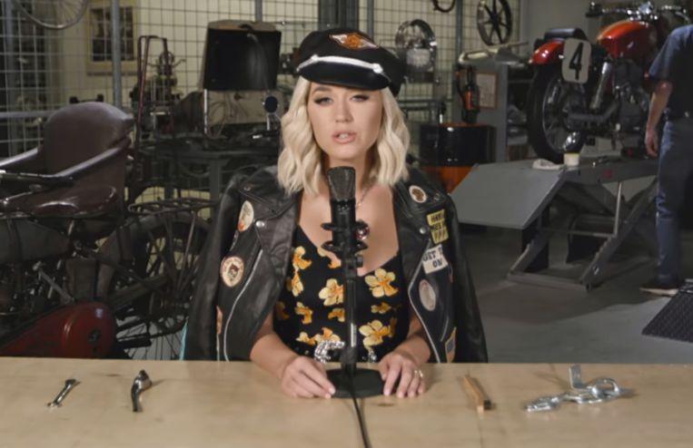 Katy Perry in haar video.