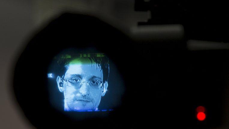 Snowden in de zoeker van een camera. Beeld reuters