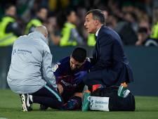 Suárez twee weken uitgeschakeld met enkelblessure