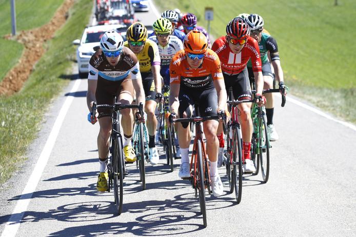 Maurits Lammertink eerder in actie tidjens de Ronde van Catalonië.