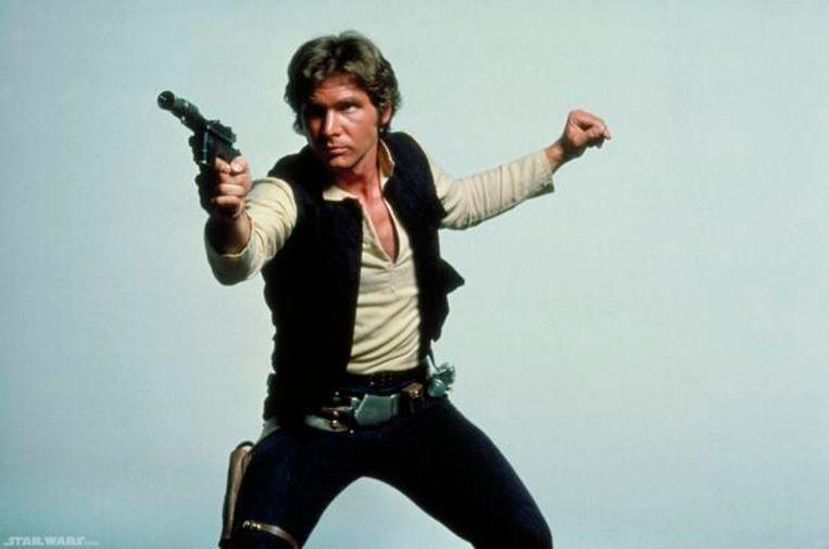 """Han Solo gebruikt het laserpistool in """"Return of the Jedi""""."""