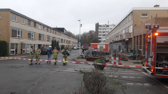 Winkelcentrum De Gaard aan de Troosterhof is door een gaslek deels afgesloten.