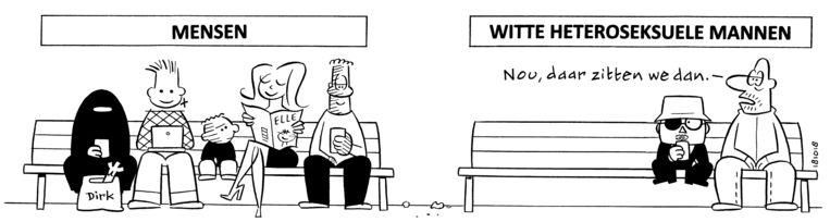 De uiteindelijke versie van de cartoon. Beeld Peter de Wit