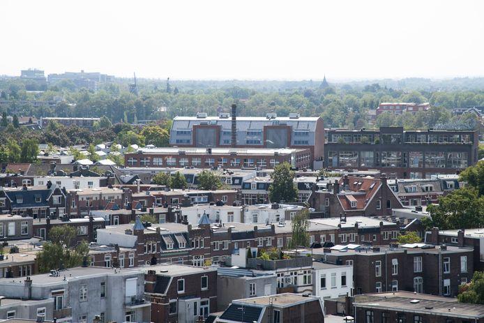 Bottendaal met voormalig Biotex complex gezien vanaf dak Metterswane.