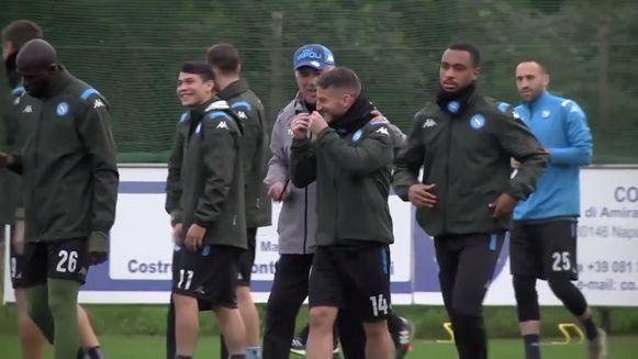 Dries Mertens en coach Ancelotti