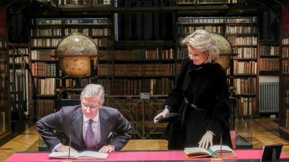 Koningspaar bezoekt erfgoedbib en woont concert bij