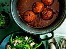 Limburgse gehaktballen met bonenmelange